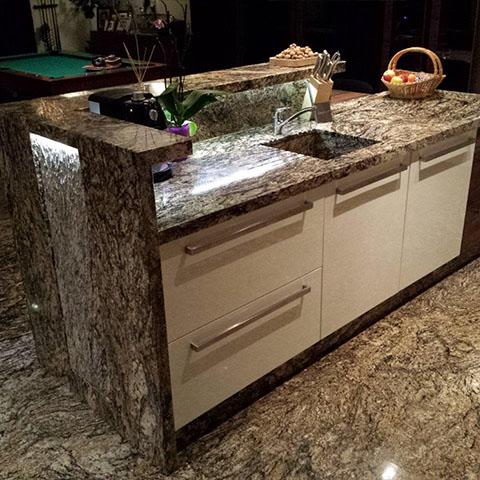 kuchnia z marmuru